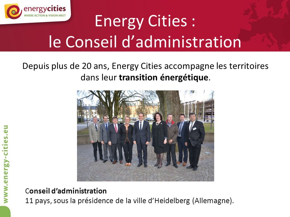Energy Cities : le Conseil d'administration