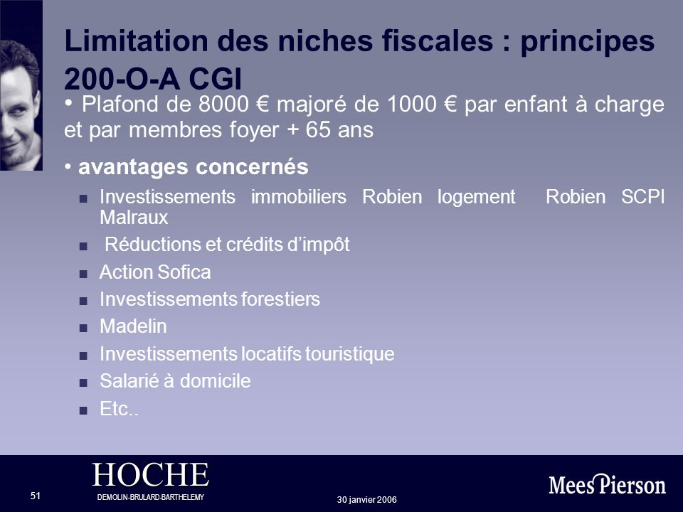 Limitation des niches fiscales : principes 200-O-A CGI
