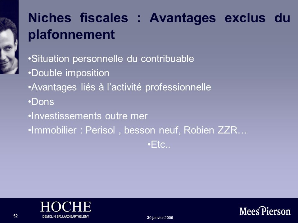 Niches fiscales : Avantages exclus du plafonnement