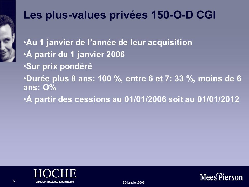 Les plus-values privées 150-O-D CGI