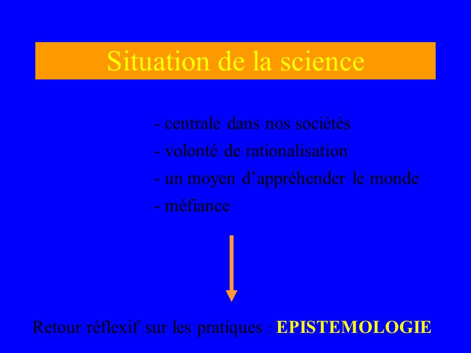 Situation de la science