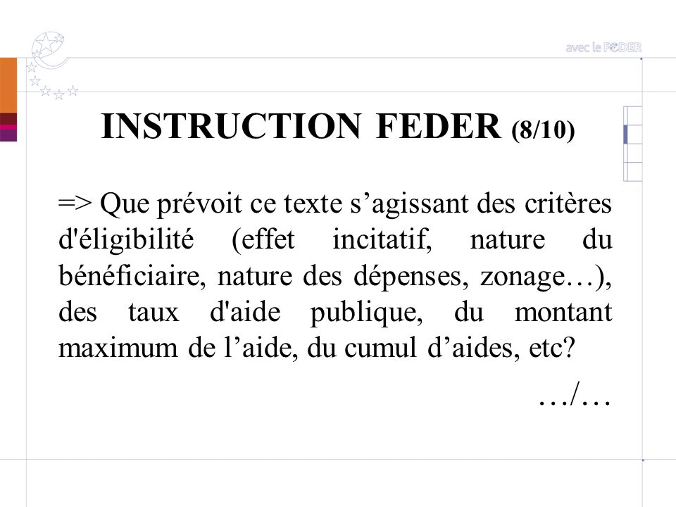 INSTRUCTION FEDER (8/10) …/…