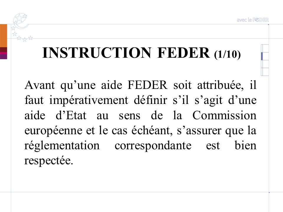INSTRUCTION FEDER (1/10)