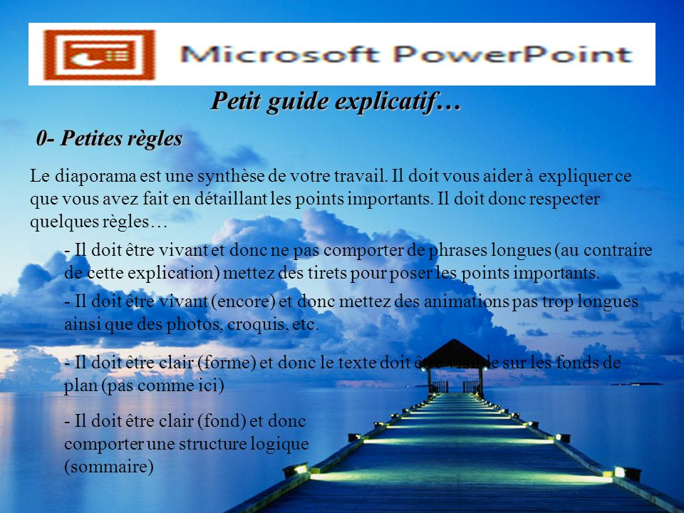 Petit guide explicatif…