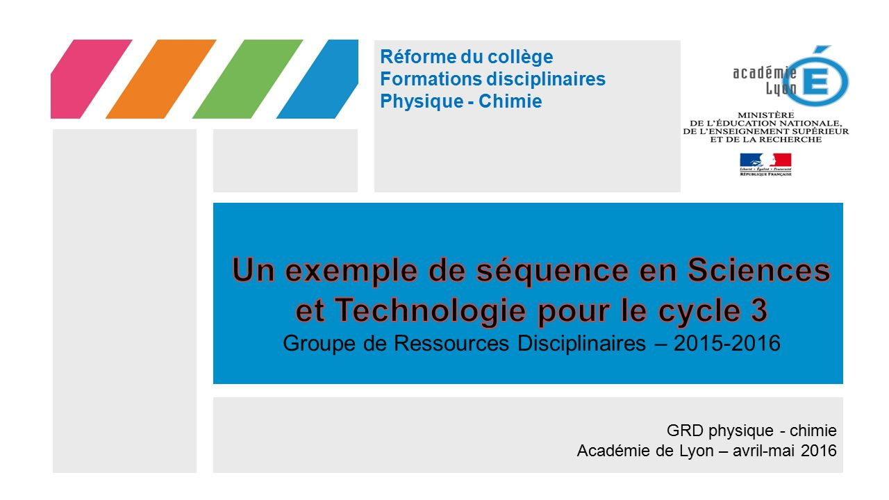 Un exemple de séquence en Sciences et Technologie pour le cycle 3