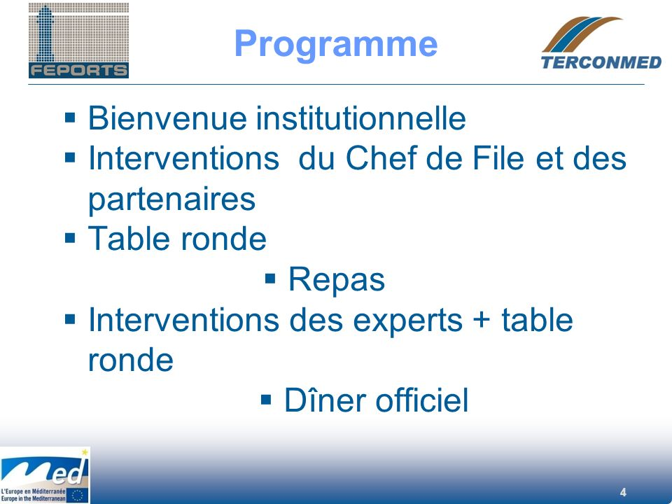 Programme Bienvenue institutionnelle