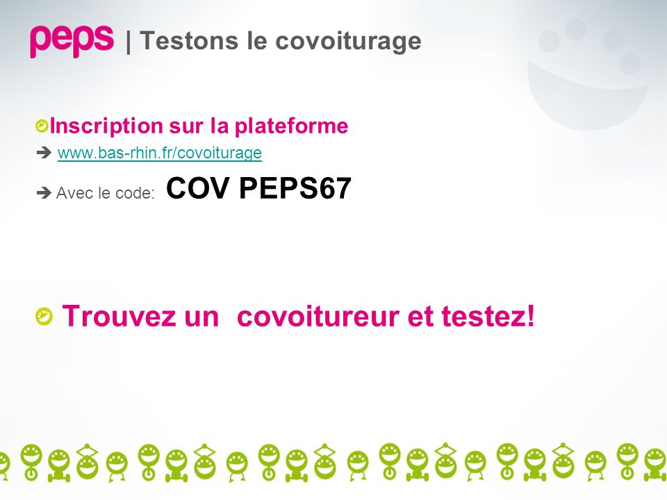 | Testons le covoiturage