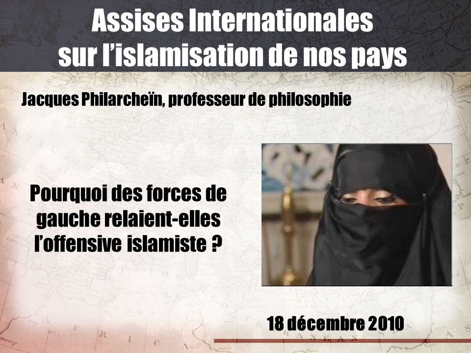 Assises Internationales sur l'islamisation de nos pays