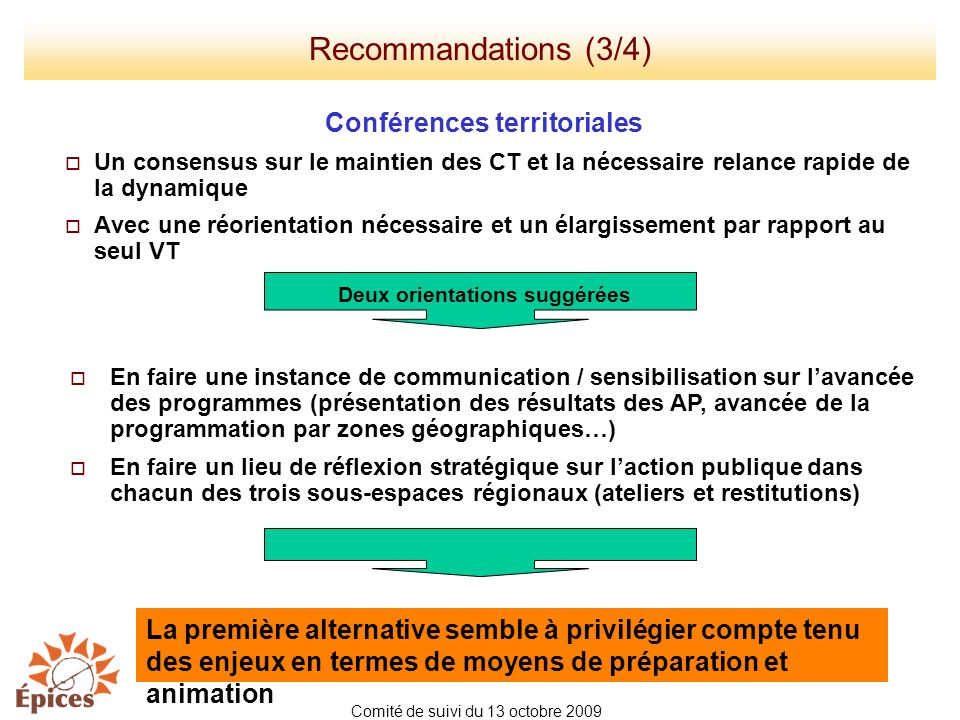 Conférences territoriales