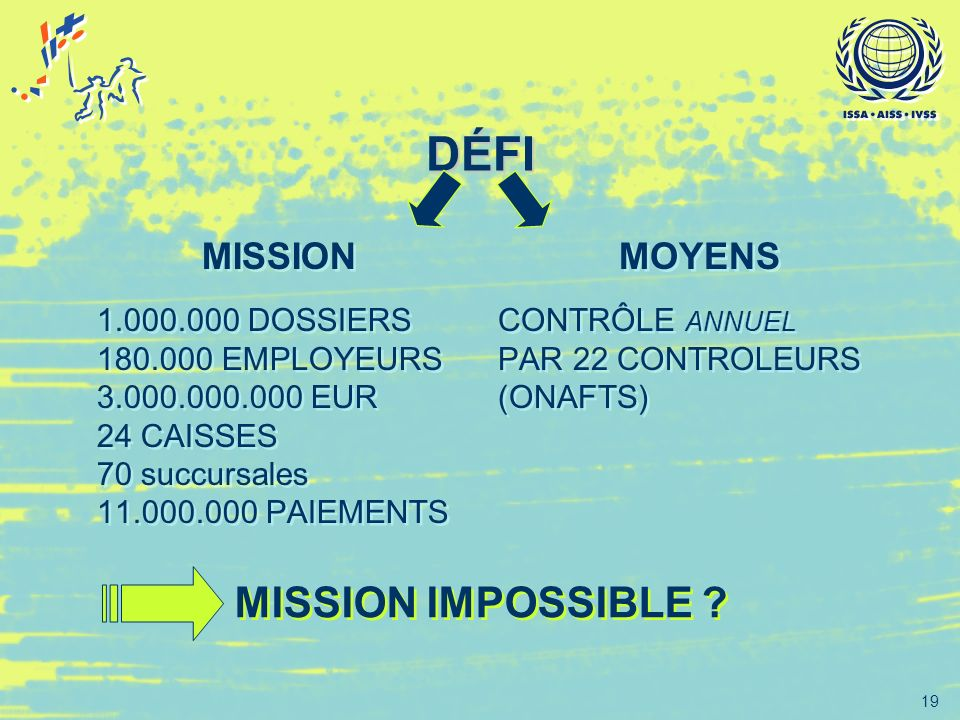 DÉFI MISSION IMPOSSIBLE MISSION MOYENS 1.000.000 DOSSIERS