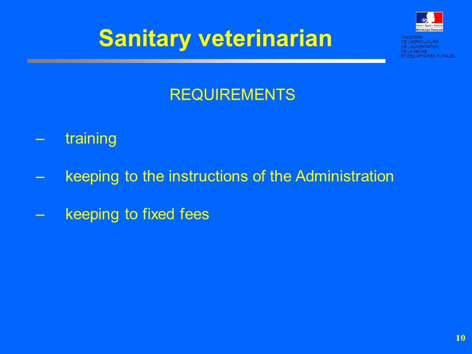 Sanitary veterinarian