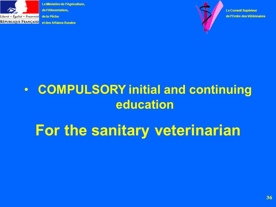 For the sanitary veterinarian