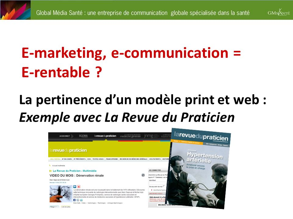 E-marketing, e-communication = E-rentable