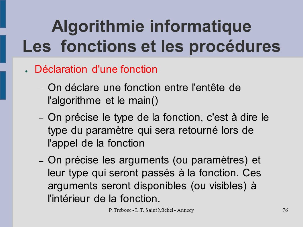 Introduction Aux Algorithmes Informatiques Ppt Telecharger
