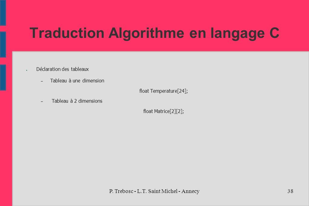 Traduction Algorithme En Langage C Ppt Telecharger