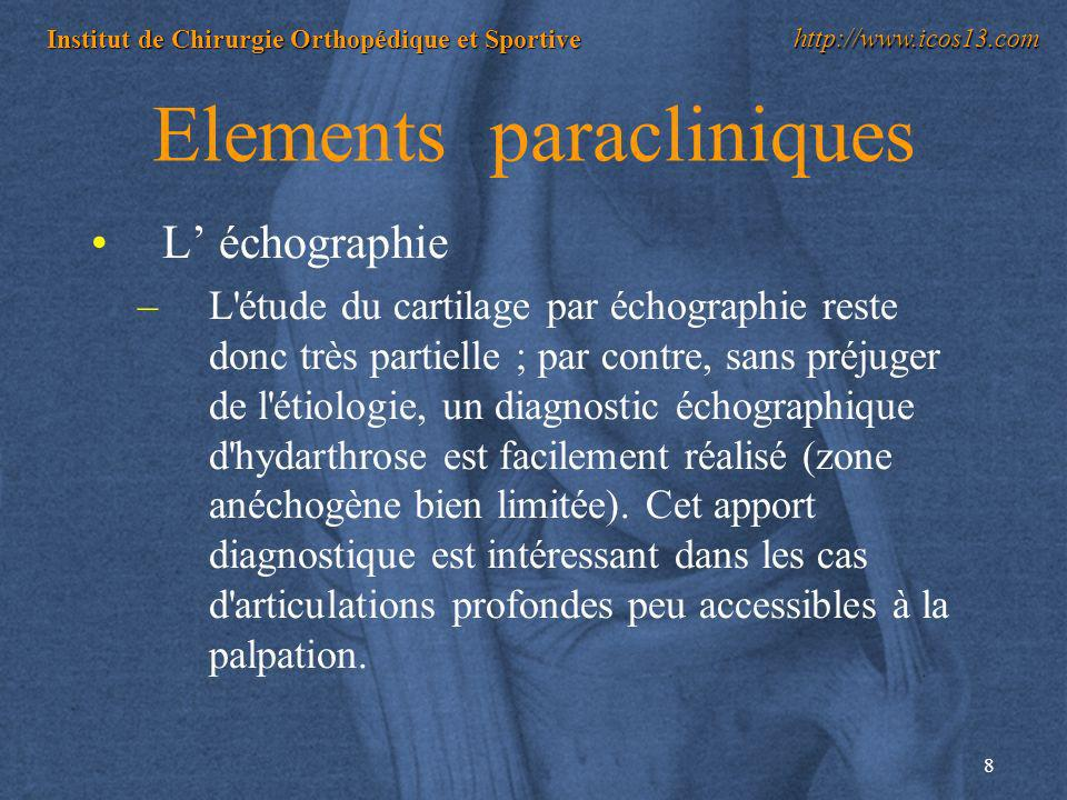 Elements paracliniques