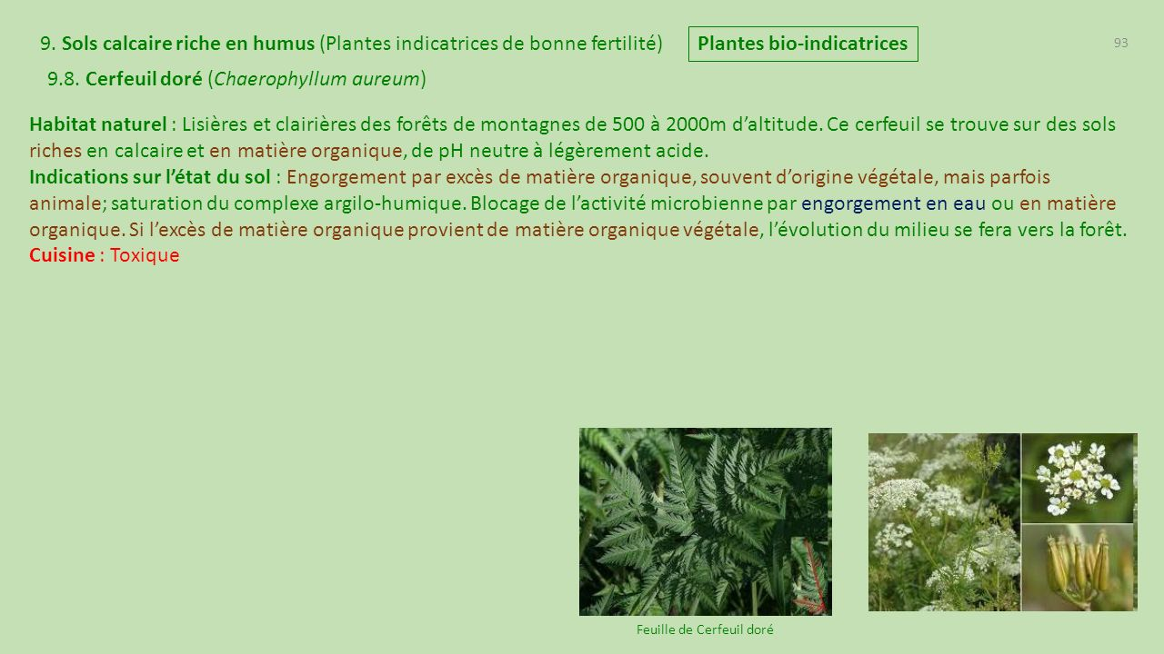 plantes bio-indicatrices de france - ppt télécharger