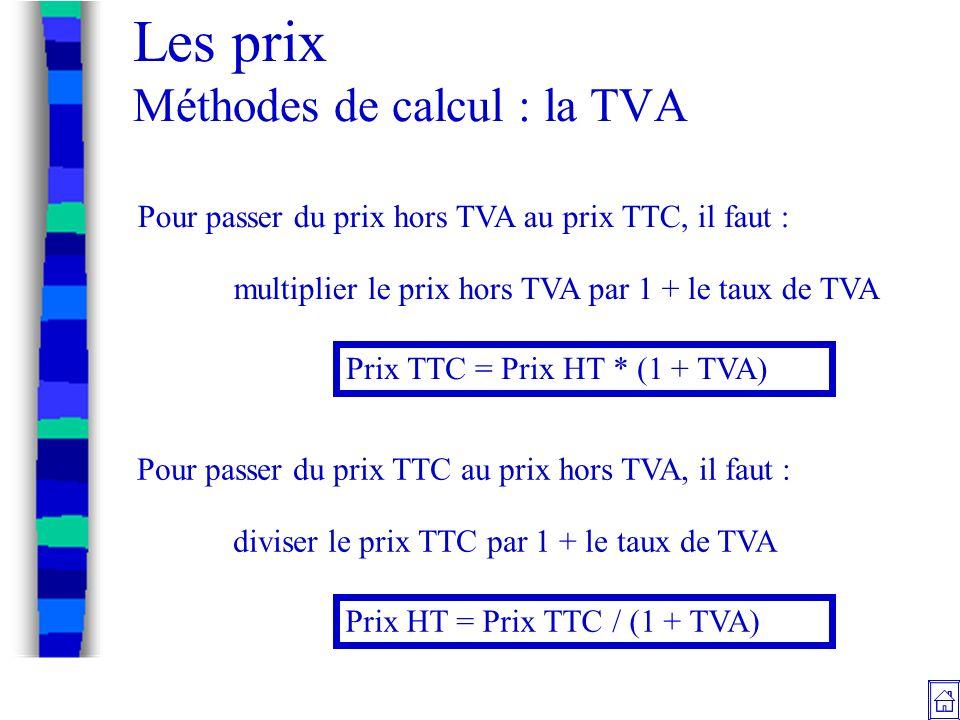 Les Prix Les Contraintes Methodes De Calcul Documents Commerciaux