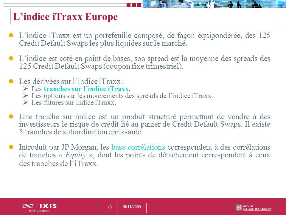 L'indice iTraxx Europe