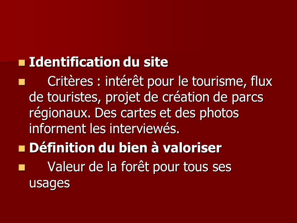 Identification du site