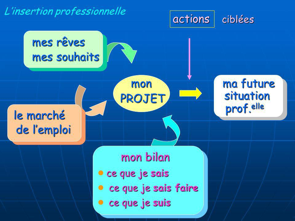 actions mes rêves mes souhaits mon ma future situation PROJET