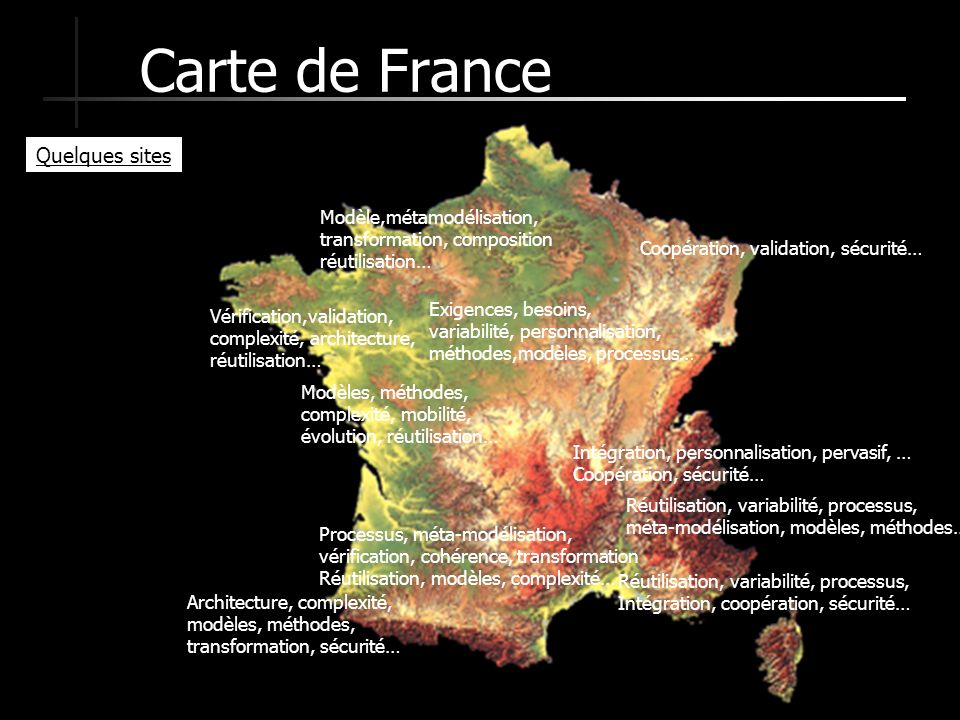 Carte de France Quelques sites