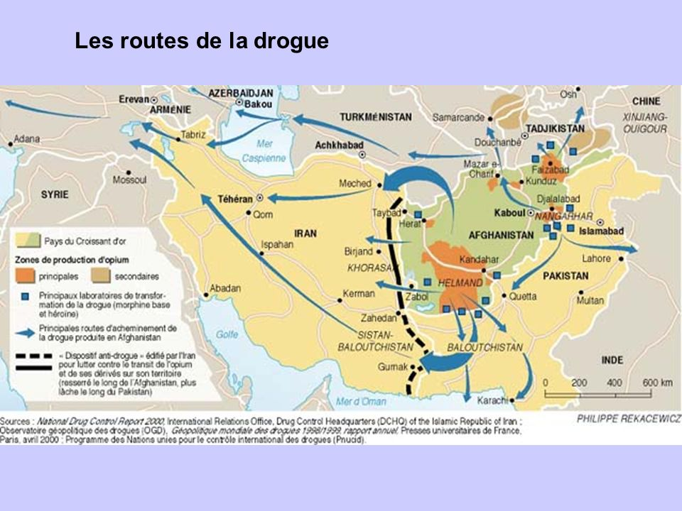 Les routes de la drogue