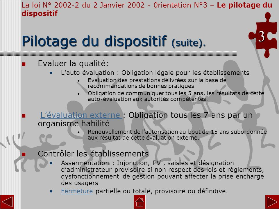 Pilotage du dispositif (suite).
