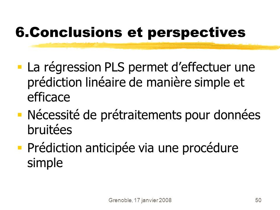 6.Conclusions et perspectives