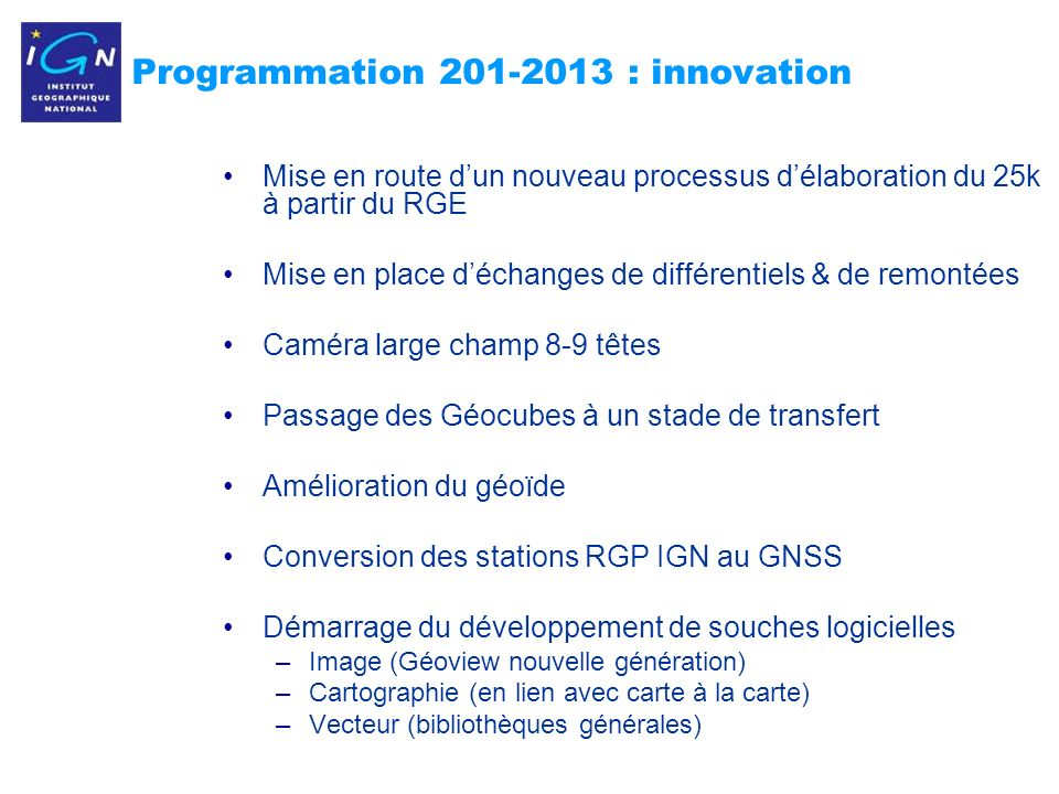 Programmation : innovation