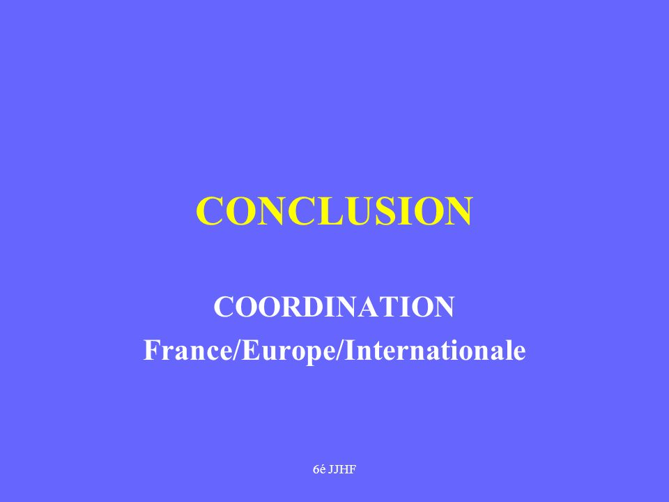 COORDINATION France/Europe/Internationale