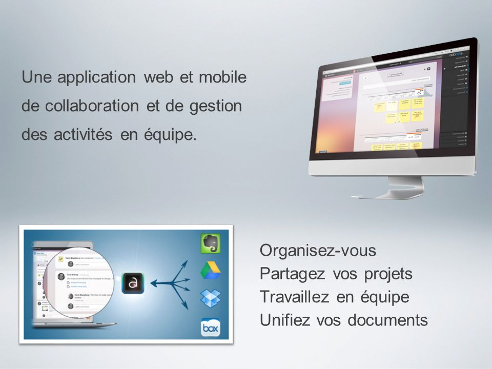 Une application web et mobile
