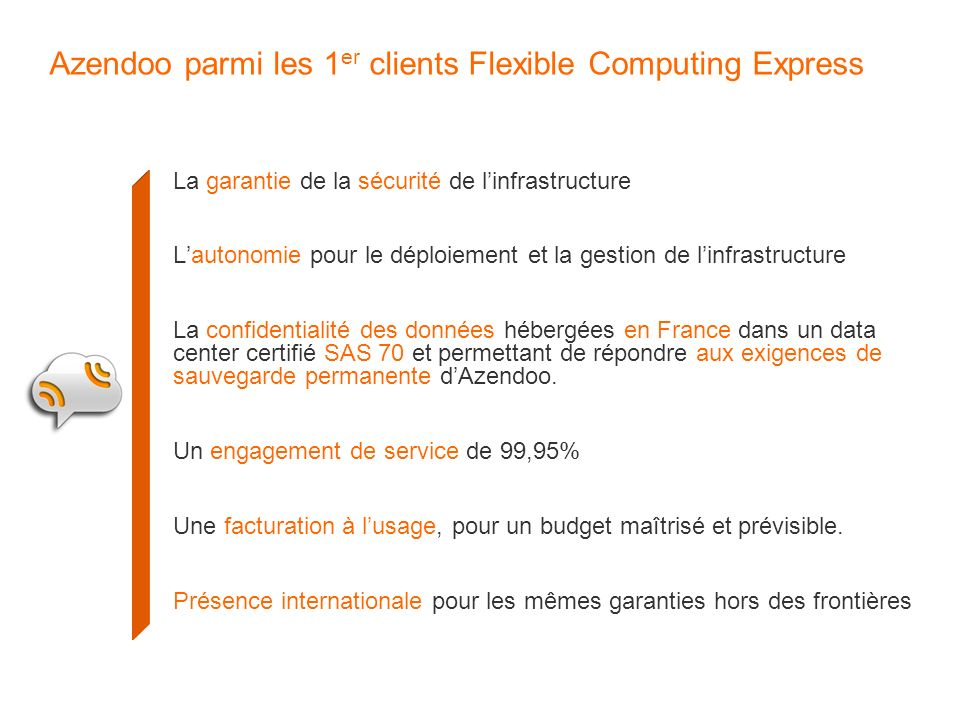 Azendoo parmi les 1er clients Flexible Computing Express