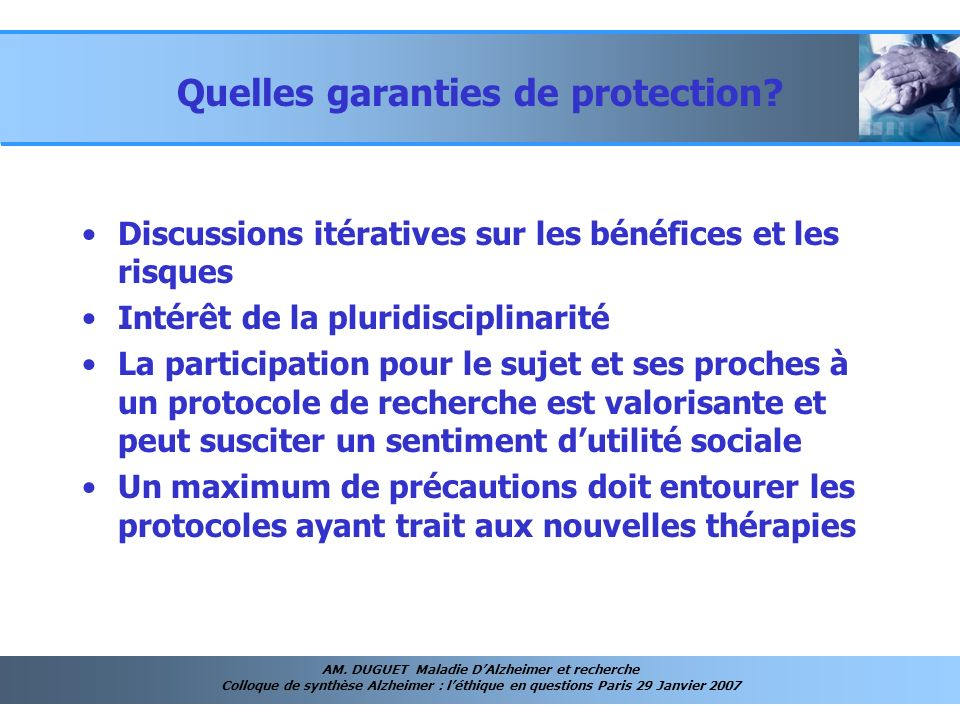 Quelles garanties de protection