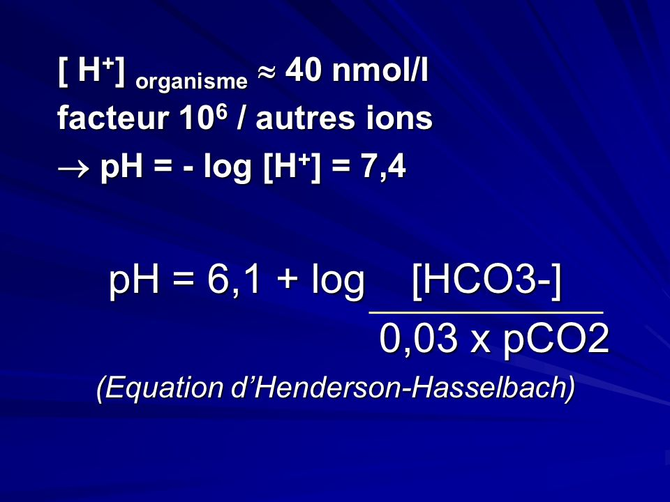 (Equation d'Henderson-Hasselbach)