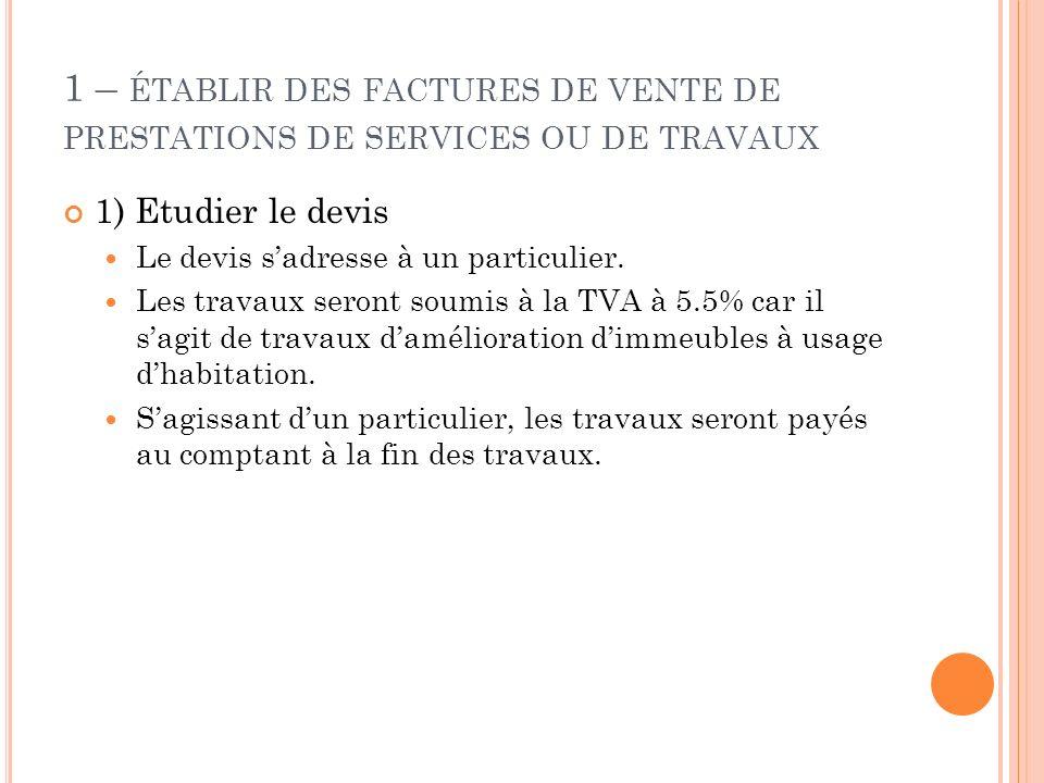 Ch 2 La Facturation De Services Ou De Travaux Ppt Video Online