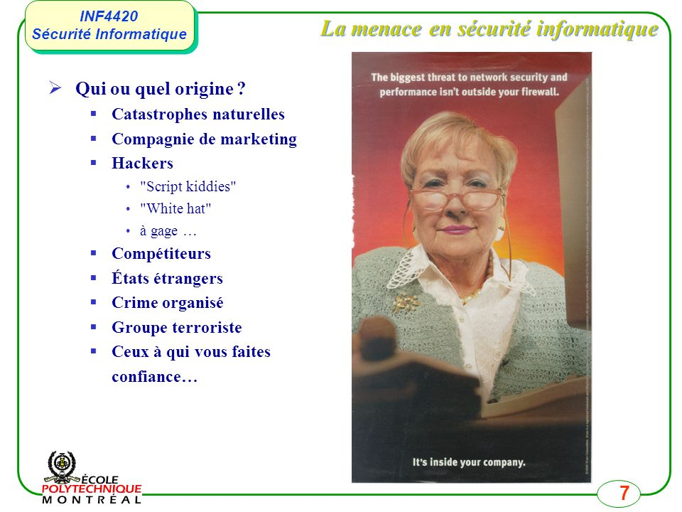La menace en sécurité informatique