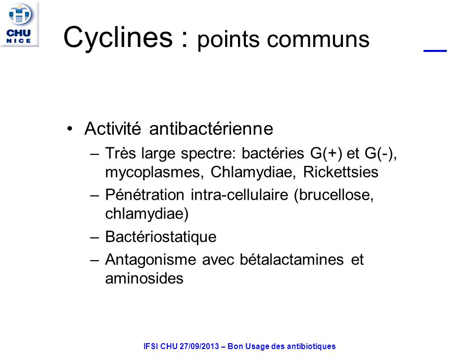 Cyclines : points communs