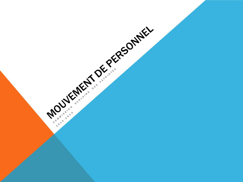 Mouvement de personnel