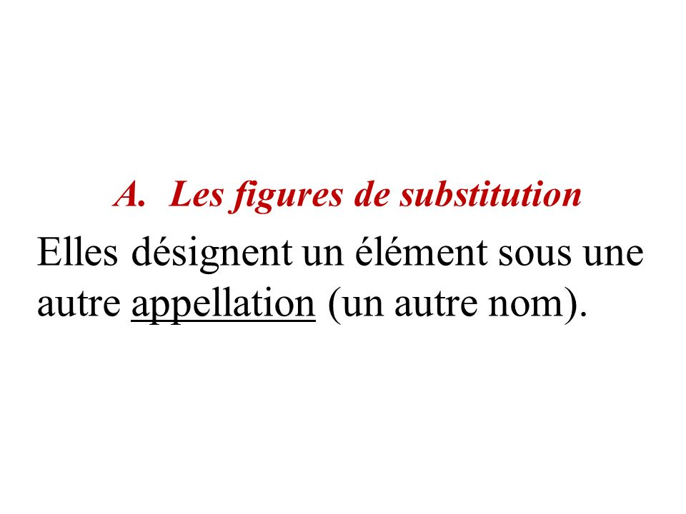 Les figures de substitution