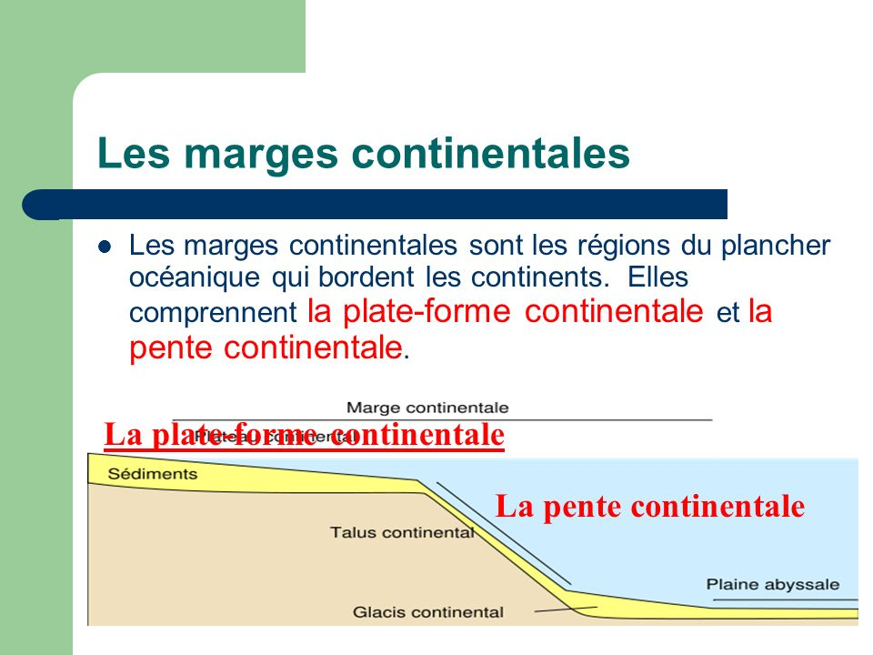 Les marges continentales
