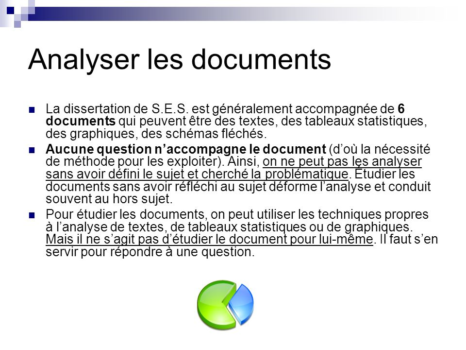 Analyser les documents