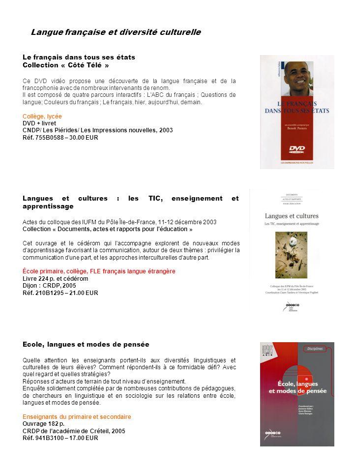 Selection De Produits Destinee A L Enseignement Du Francais