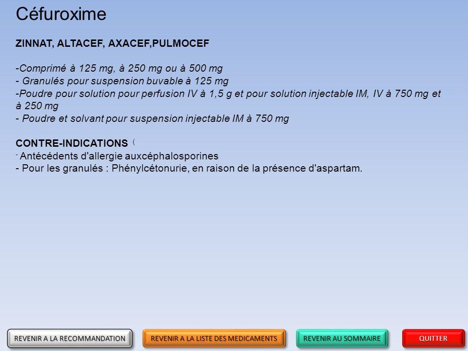 Recommandations sur l'usage des antibiotiques en première