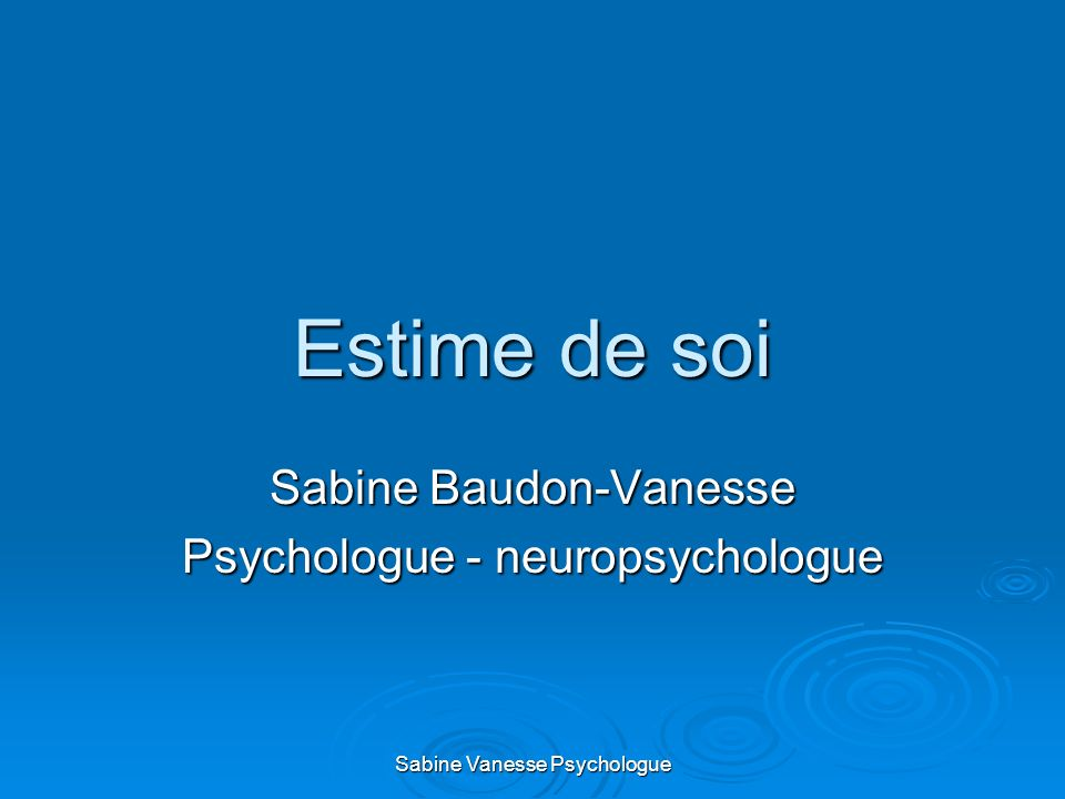 Sabine Baudon-Vanesse Psychologue - neuropsychologue