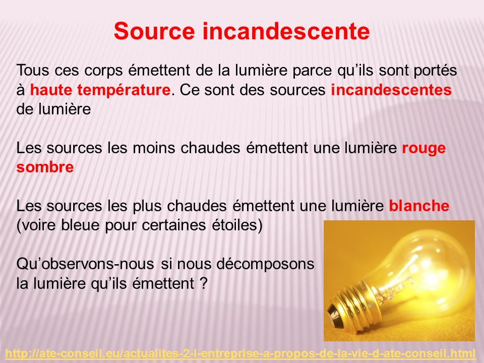 Source incandescente