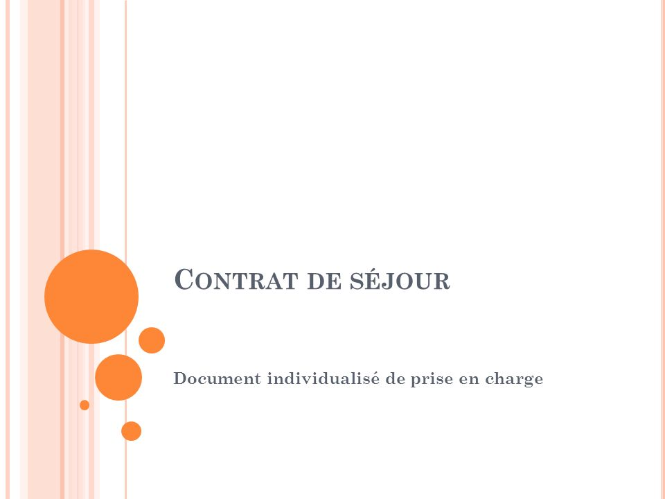 Document individualisé de prise en charge