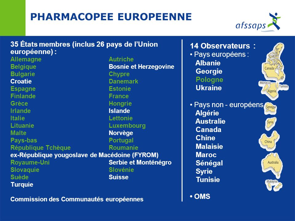 PHARMACOPEE EUROPEENNE