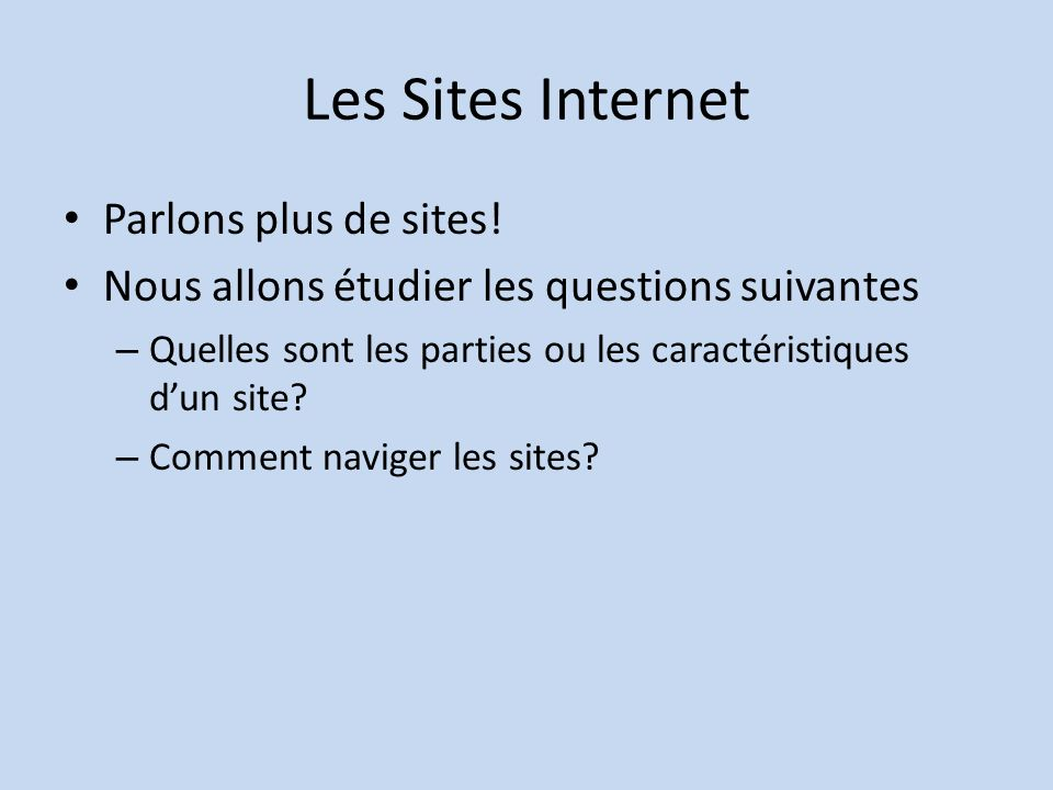 Les Sites Internet Parlons plus de sites!