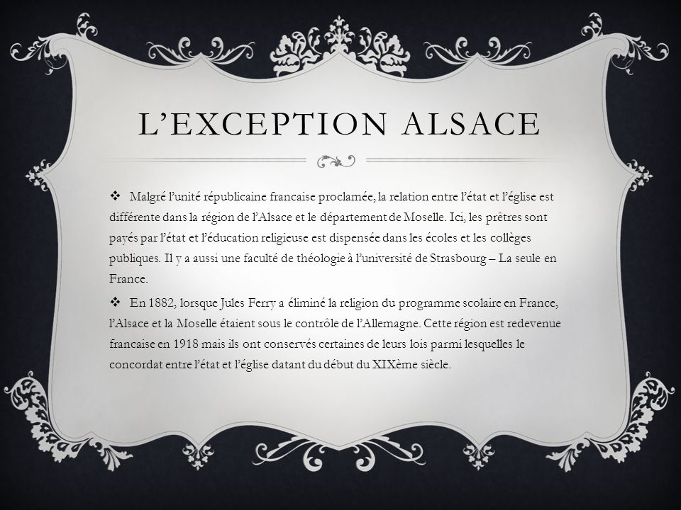 L'exception alsace
